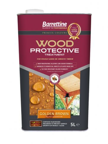 Barrettine wood protector golden brown 5L